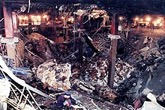 Underground parking destroyed in the World Trade Center bombing in February 1993