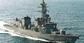 2020年2月2日、シーレーンでの日本船舶の安全航行確保のためアラビア海北部に出発した、護衛艦「たかなみ」